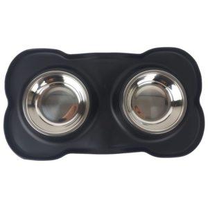 Dubbele Voerbak voor Huisdieren - 36 x 21 x 3 cm