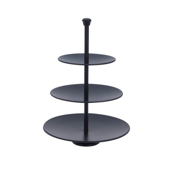 Etagere 3 laags - 36.5cm - zwart