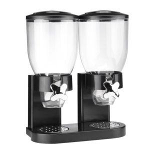 Muesli dispenser - dubbel - zwart