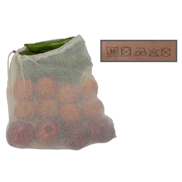 Duett Herbruikbare Fruit- en Groentezakjes - Biologisch Katoen - 6 stuks