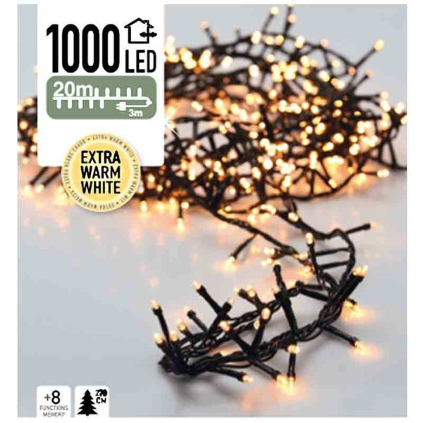 Micro Cluster - 1000 LED - 20 meter - extra warm wit