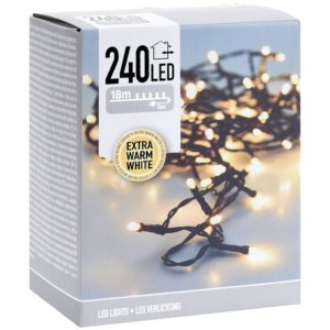 LED-verlichting - 240 LED's - 18 meter - extra warm wit