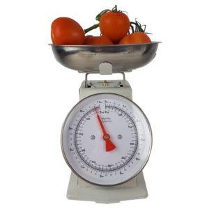 Retro Keukenweegschaal - 5 KG - Wit