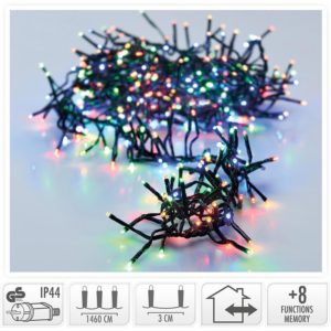 Clusterverlichting - 2016 LED - 14.5m - multicolor