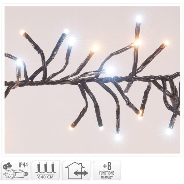 Clusterverlichting - 1152 LED - 2-kleuren: wit + warm wit