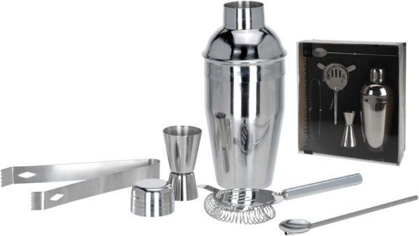 Cocktailshakerset - RVS - 5 dlg