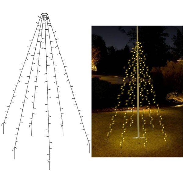 Vlaggenmast verlichting 192 LED's - 208cm