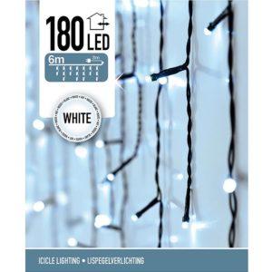 IJspegel verlichting - 180 LED - 6 meter - wit