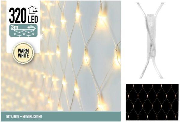 Netverlichting 320 LED -  300 x 150 cm - warm wit