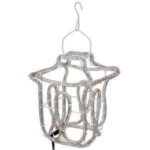 Kerstlantaarn - Slangverlichting - 25cm hoog
