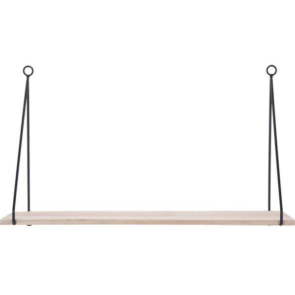 Houten Plank met metalen hangers